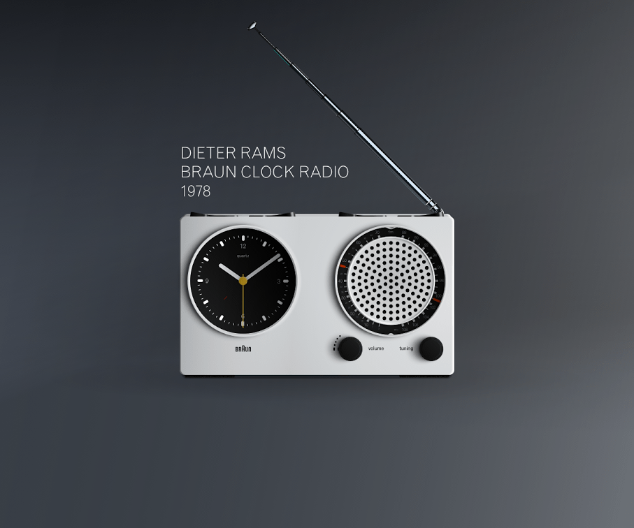 Dieter Rams Braun Clock Radio- Sketch App Freebie
