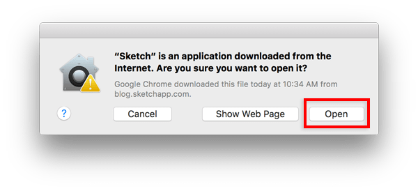 Sketch is an application downloaded from the Internet