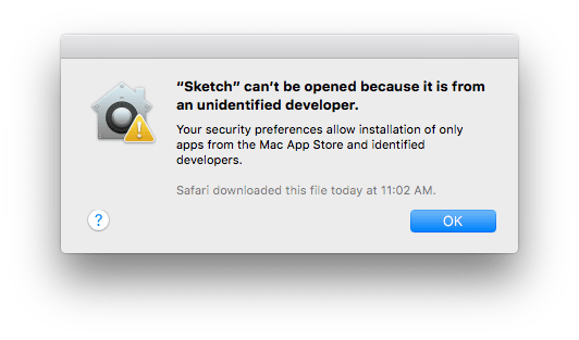 Sketch can't be opened