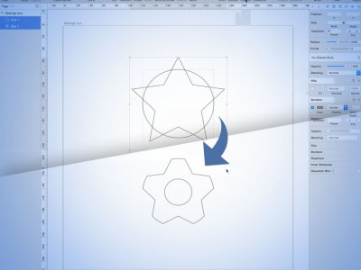 How to Make a Simple Settings Icon in Sketch