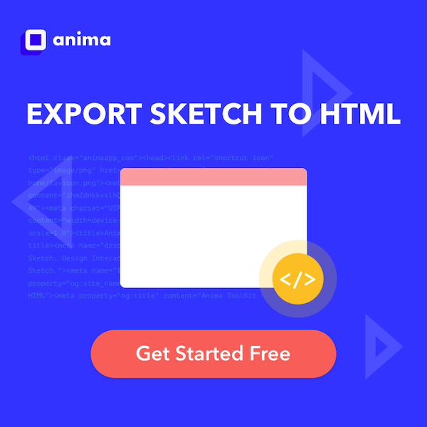 Anima - Export Sketch to HTML