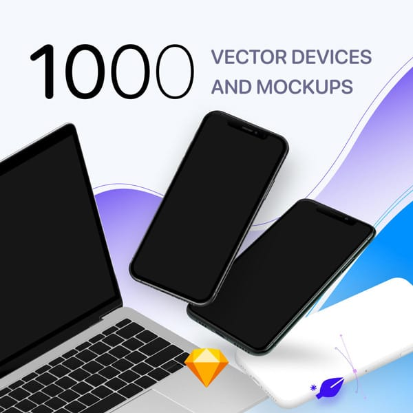 1000 Devices and Mockups for Sketch