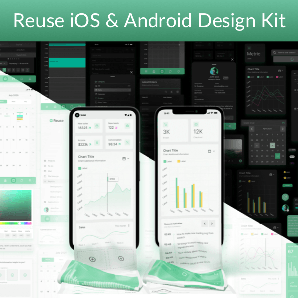 Reuse Mobile — iOS & Android Design Kit