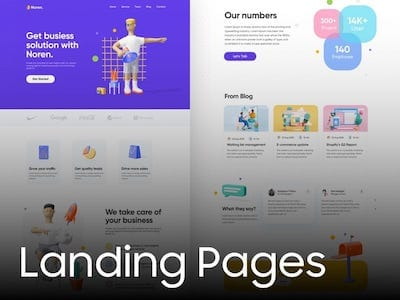 all resources for  landing pages