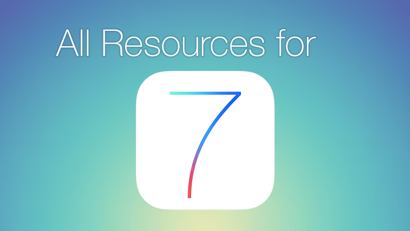 all resources for iOS7