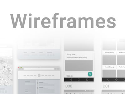 all resources for web and mobile Wireframes