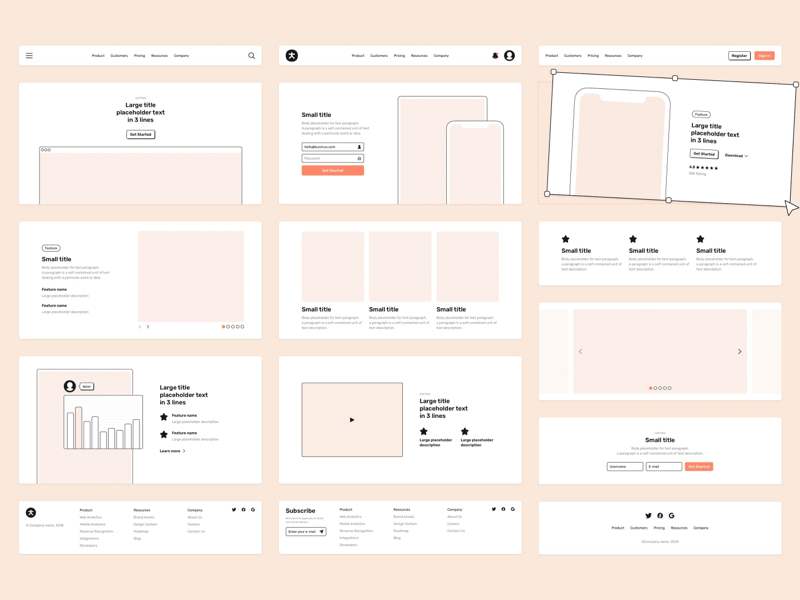 Root — Wireframe & Design Starter Kit
