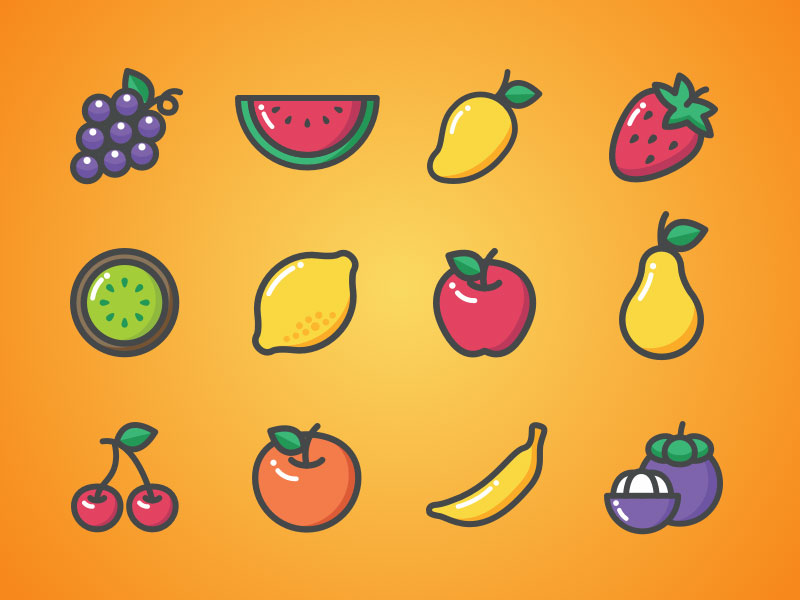 12 Fruity Icons