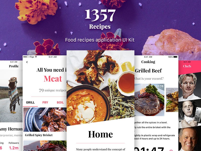 1357 recipe app ui kit sketch freebie download free resource for 1357 recipe app ui kit forumfinder Image collections