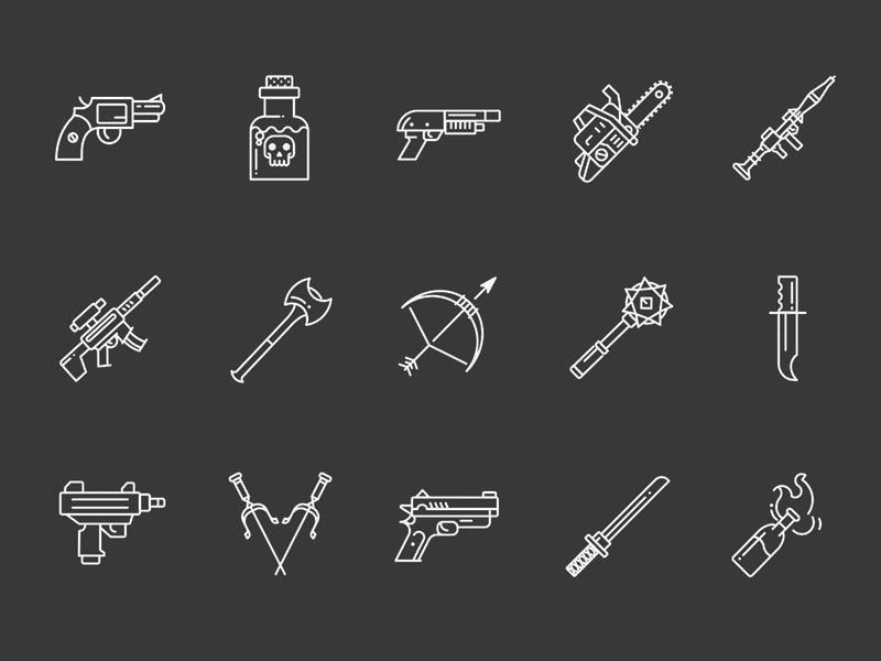15 Weapons Icons