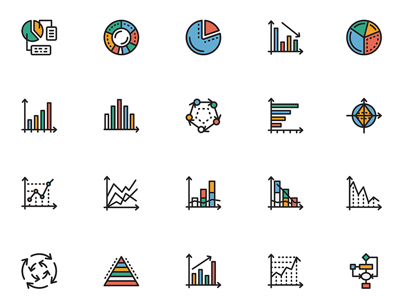 Chart Icons Sketch Freebie  Download Free Resource For Sketch