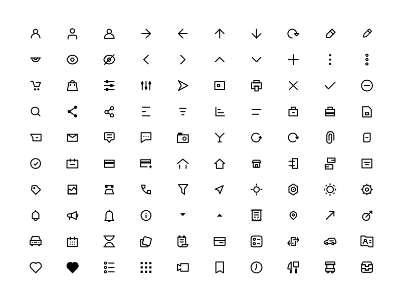 100 basic 24px icons sketch freebie download free resource for