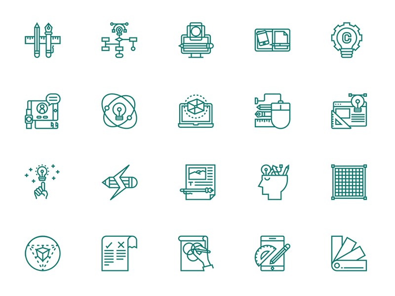 Design Thinking Icon Set