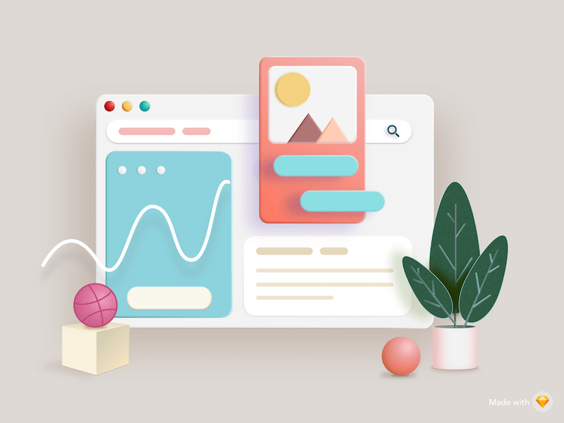 3D Dashboard Illustration