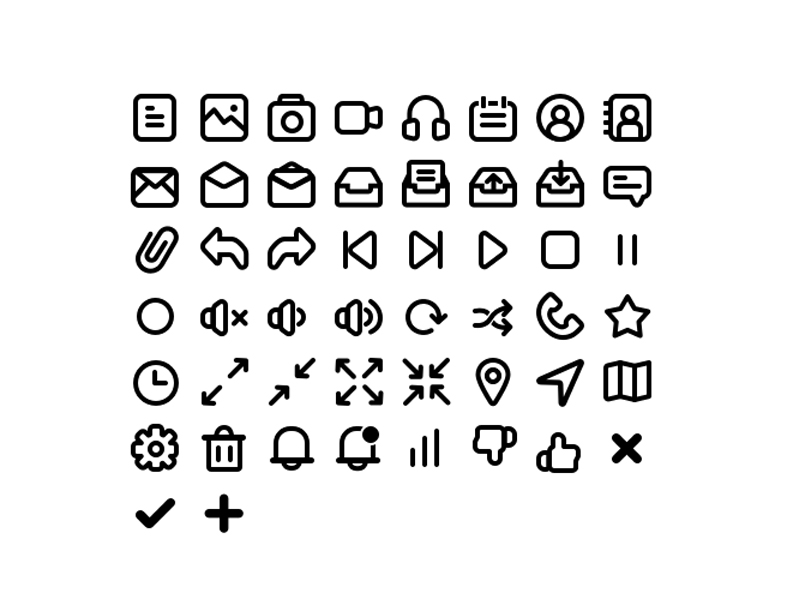40 Basic Icons Pack
