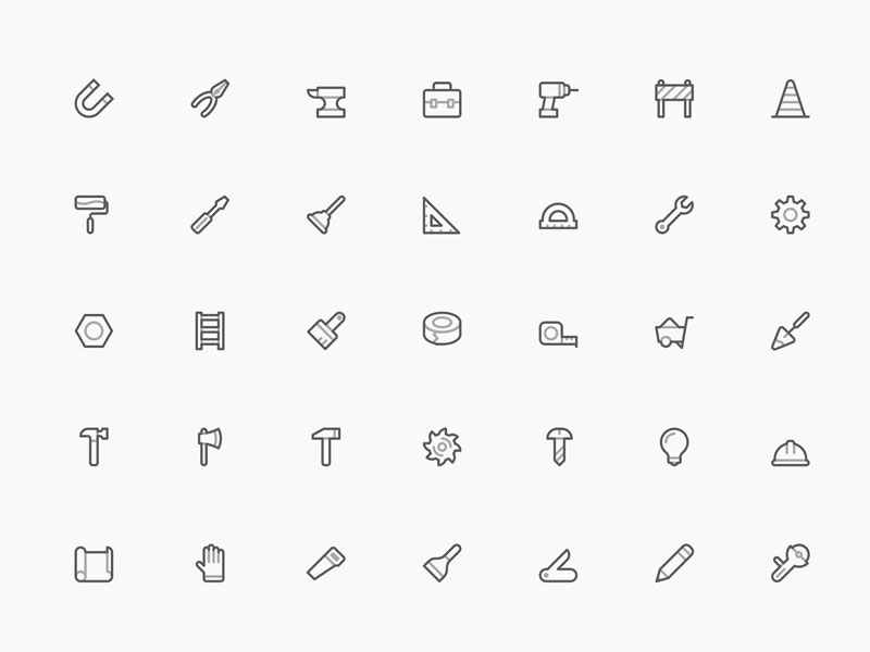 40 Craftsman Tools Icons
