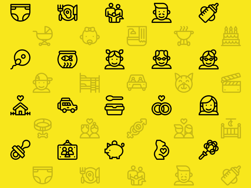 40 Family Icons Sketch freebie - Download free resource for