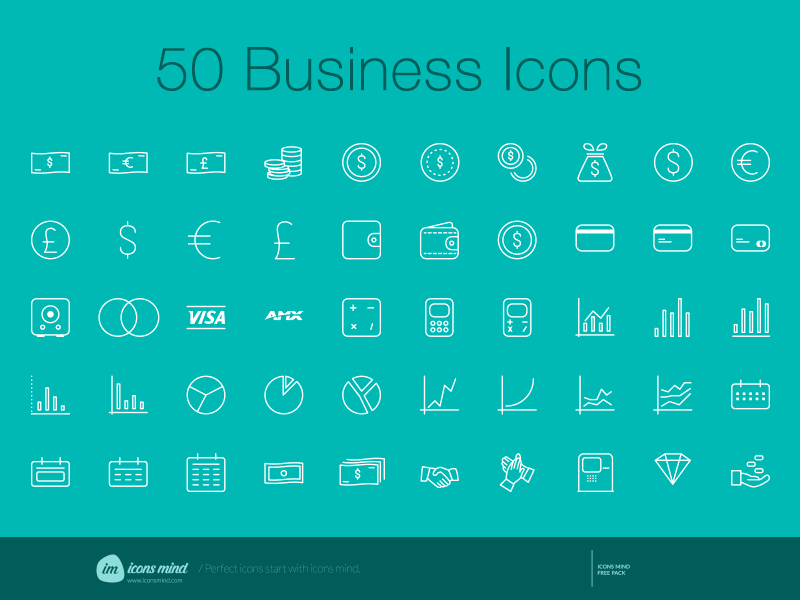 Free 50 Sketch Business Icons Set Freebie Resource For Sources