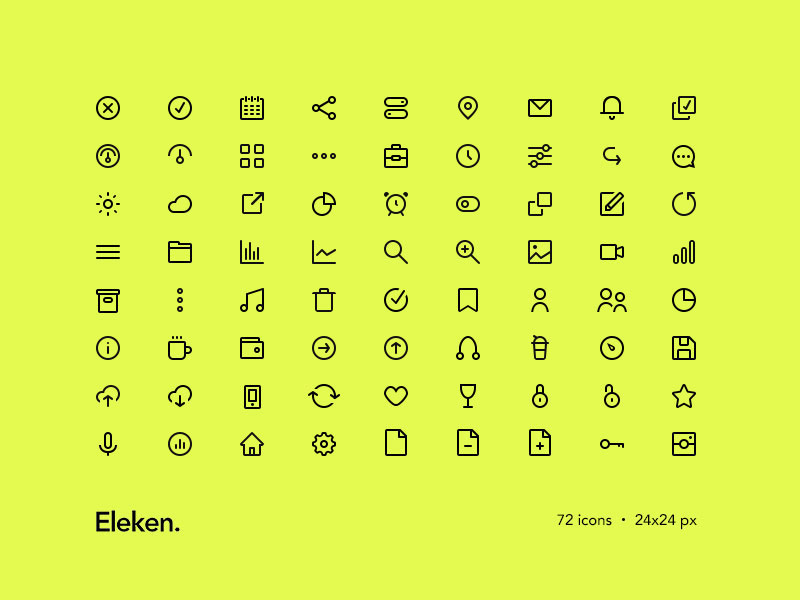 72 Tiny Icons by Eleken