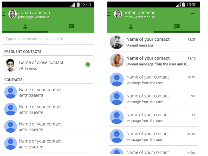 Hangouts version 2 3 (Android 4 4 4) Sketch freebie - Download free