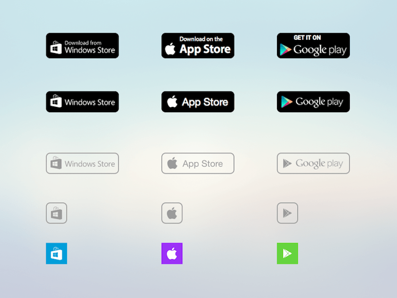 Google Play Mobile App Preview Sketch freebie - Download