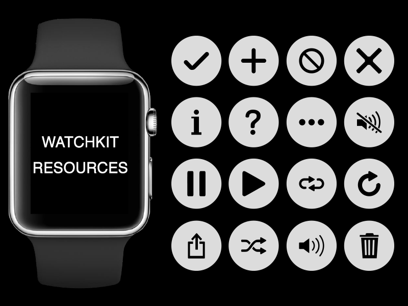 Apple Watch Menu UI Kit