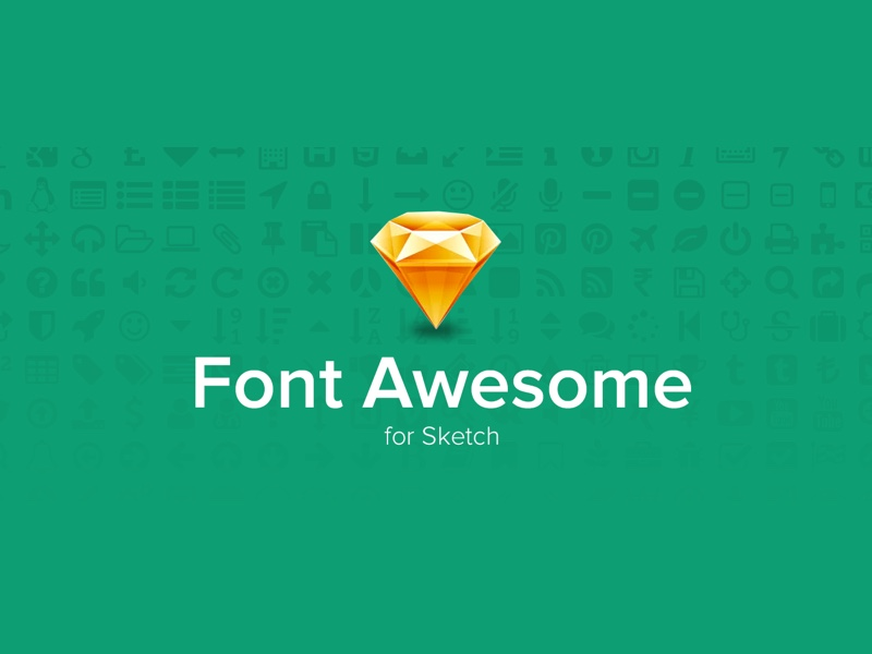 FontAwesome Icons Sketch Freebie