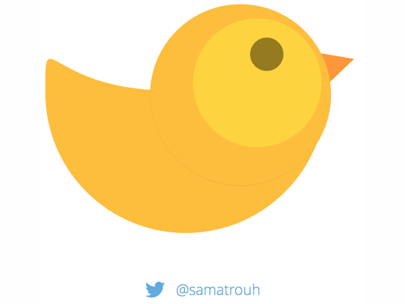 Yellow Lazy Bird