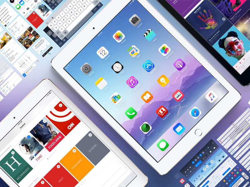 iOS 9 GUI Kit for iPad