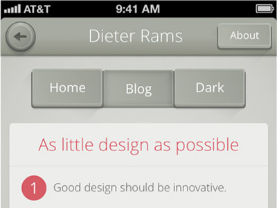 DieterRams iPhone UI