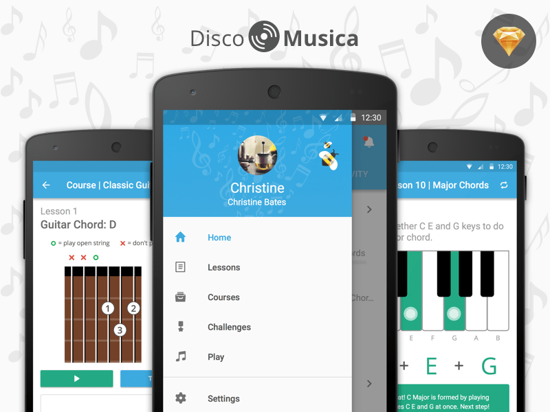Disco Musica App UI Kit