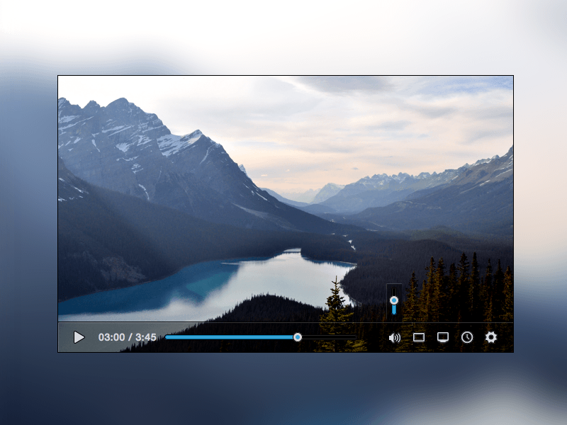 YouTube Video Player Concept