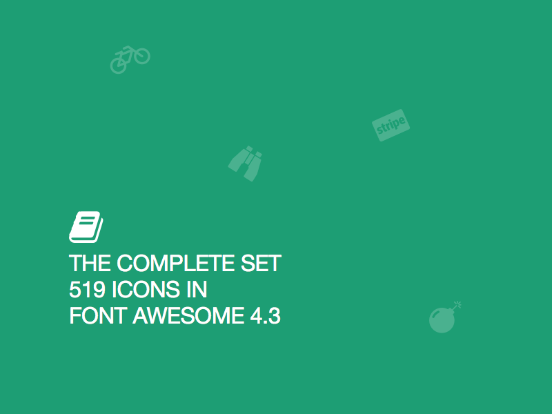 519 Font Awesome 4.3 Icons