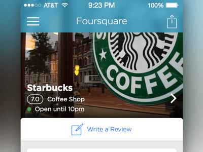 Foursquare iOS Redesign