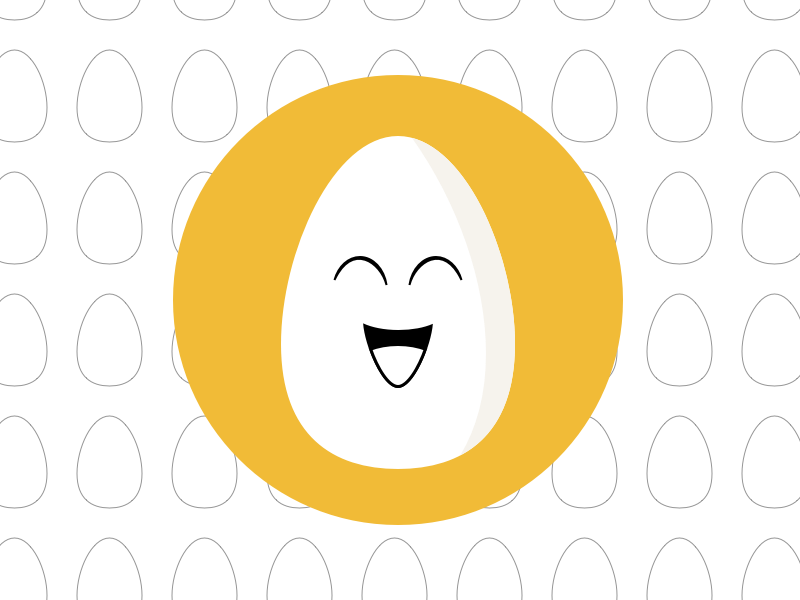 Happy Egg Flat Icon