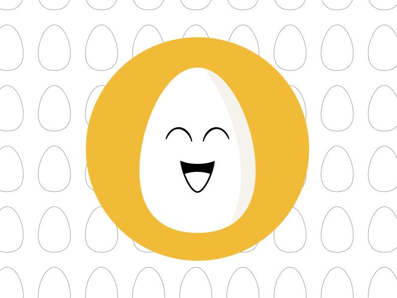 Happy Egg Flat Icon Sketch Freebie Download Free