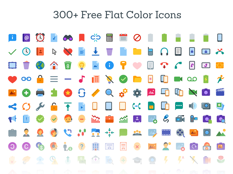 Free Flat Color Icons SVG freebie - Download free SVG resource for ...