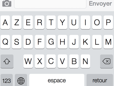 iOS7 Keyboard AZERTY French