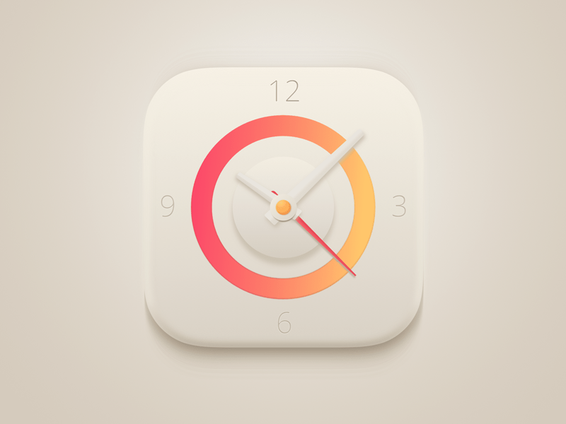 clock app icon sketch freebie download free resource for