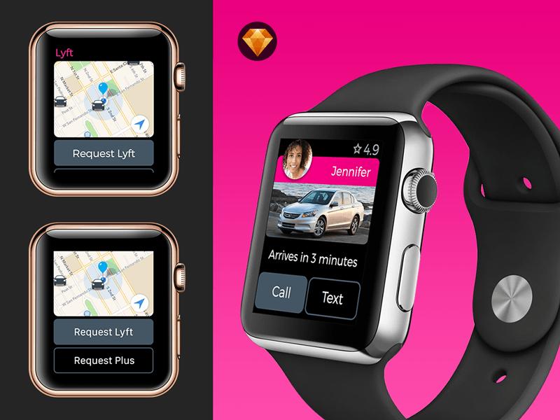 Lyft Apple Watch GUI Concept