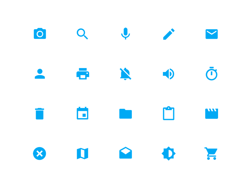 System Icons Material Design