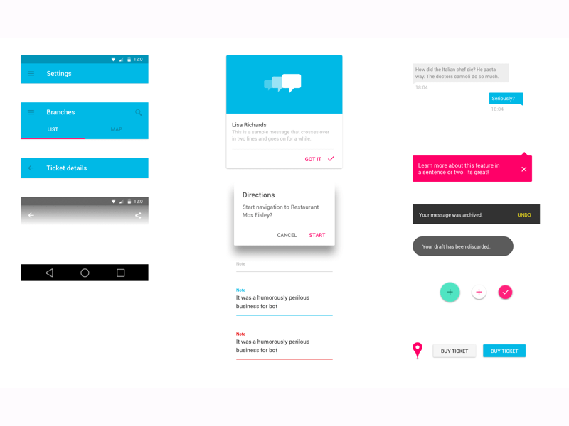 Android Material Design UI Kit Sketch Freebie Download Free - Google design templates