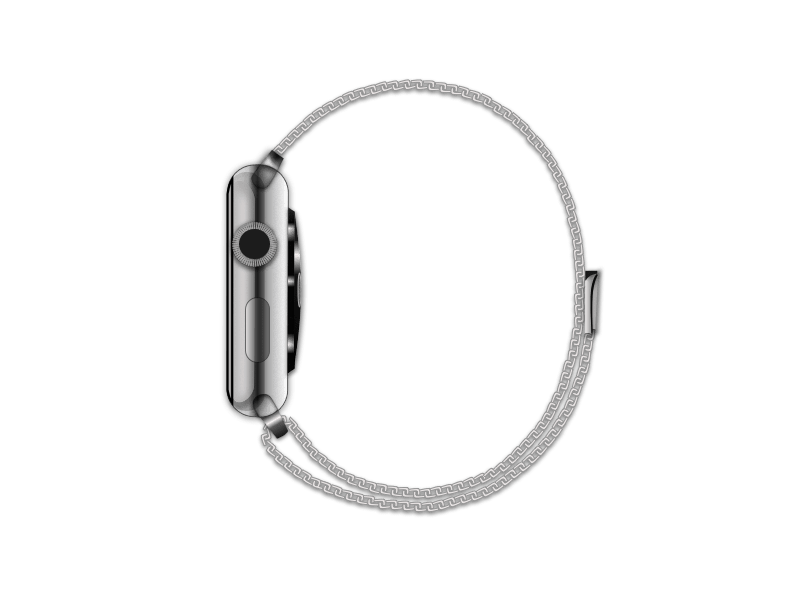 Apple Watch with a Milanese Loop
