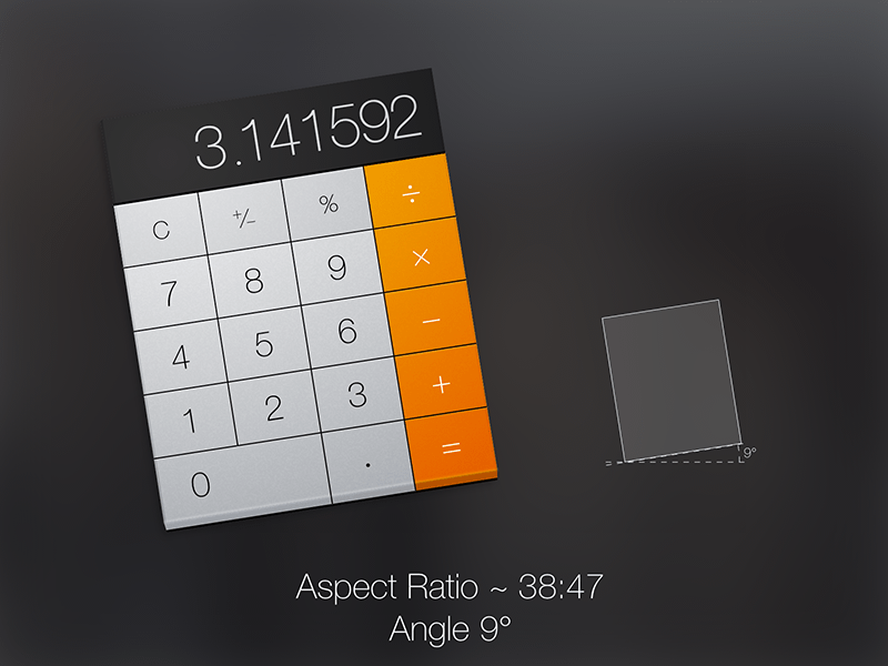 OSX Yosemite Calculator