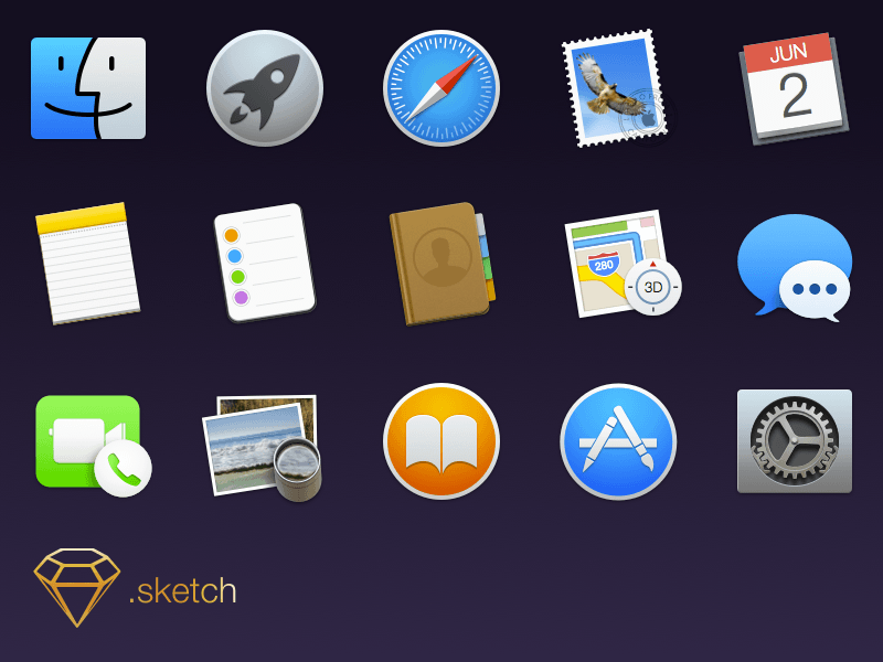 Apple os x yosemite icons sketch freebie download free resource for sketch sketch app sources - Apple icon x ...