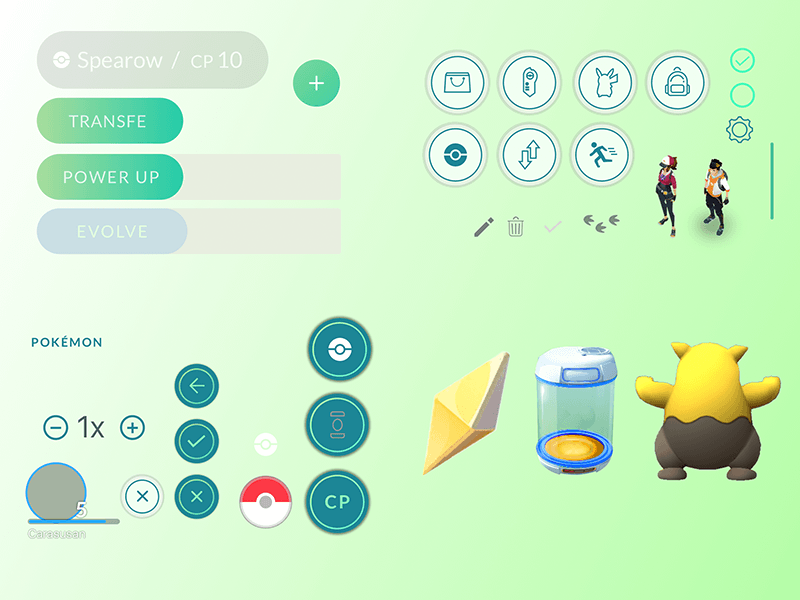 Pokemon GO UI Elements
