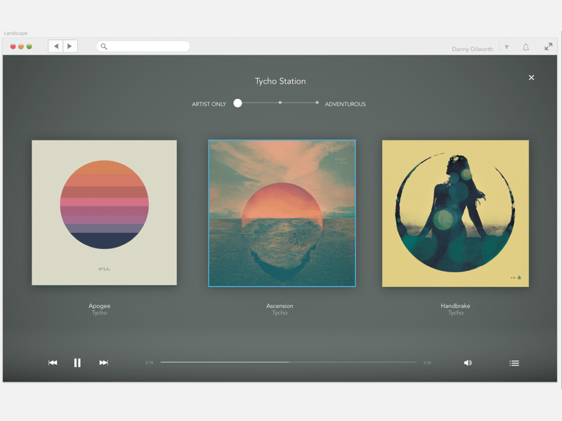 RDIO Interface