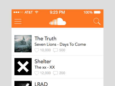 SoundCloud iOS 7