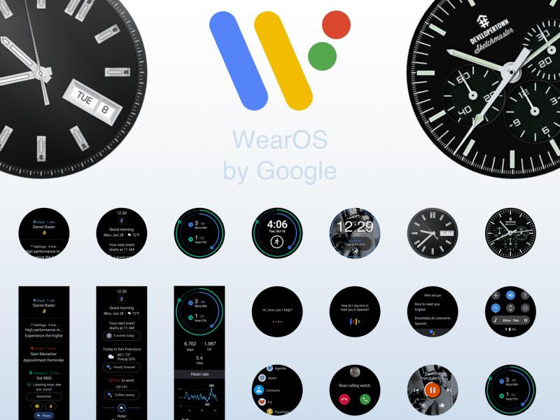 Wear OS by Google Sketch UI Kit Sketch freebie - Download