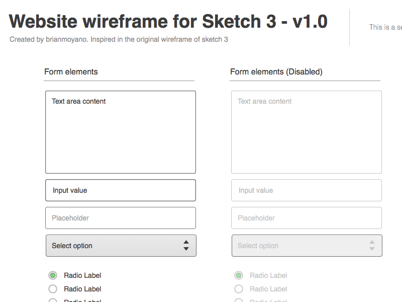 Wireframe for Sketch 3